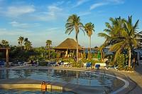 Swimming-pool at all inclusive resort Maroma beach, Caribe, Quintana Roo state, Mayan Riviera, Yucatan Peninsula, Mexico
