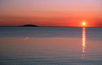 sunset over East Sea, Sweden, Oeland