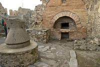 Former bakery in Pompeji, Italy, Europe