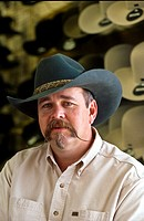 USA, Montana,a ranch cowboy, portrait
