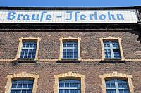 Former factory, Brause fizzy drink, writing pens, nibs, pen holders, pens, tradition, business, Iserlohn, North Rhine-Westphalia, Germany, Europe