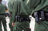 Police search following a quadruple family murder near Eislingen, Baden-Wuerttemberg, Germany, Europe