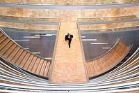 Stairway in the Aviation Center, Deutsche Lufthansa AG, Frankfurt am Main, Hesse, Germany, Europe