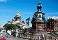 Saint Isaac square in Saint Petesburg, Russia
