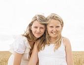 Girls in wheat field