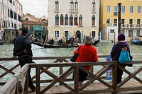 People waiting for Traghetti at Sofia stop in Venice Italy Europe