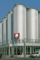Gyle tank of the Spaten brewery in Munich, Bavaria, Germany