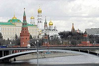 View of the Kremlin and Moskva river, Moscow, Russia