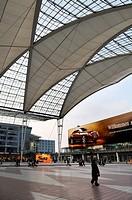 Roof, Terminal 2, MUC II Airport, Munich, Bavaria, Germany, Europe
