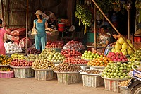 Fruit stall on the market of Duong Dong, Phu Quoc island, Vietnam, Asia