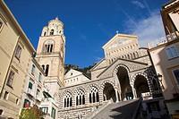 The Cathedral Duomo of Amalfi, Sant'Andrea, Costiera Amalfitana, Amalfi Coast, UNESCO World Heritage Site, Campania, Italy, Europe