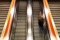 escalator at the southern railway station, Austria, Vienna