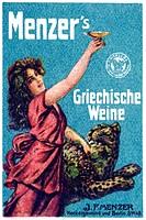 German trading stamp, Menzer's Griechische Weine