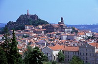 High angle view of Le Puy en Velay Auvergne