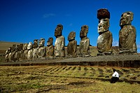 Moais at Tangariki, Easter Island