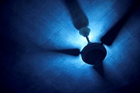 Ceiling fan and light, close up