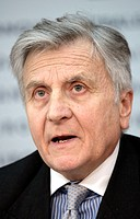 Jean-Claude Trichet, president of the European Central Bank, EZB, during a press conference on 07.02.2008 in Frankfurt/Main, Hesse, Germany, Europe