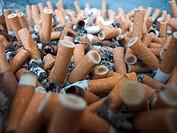 cigarette stubs in ashtray