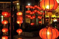 Lanterns in Lei Yue Mun, Tsim Sha Tsui, Hong Kong, China, Asia