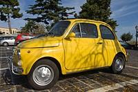 Cinquecento, Fiat 500, car, Atri, Abruzzo, Italy, Europe