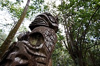 Statue, Hatiheu, Nuku Hiva, French Polynesia