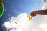 Kite on Texel, the Netherlands, Wadden eilanden, kiting along the beach