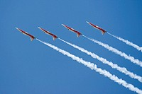Patrouille Suisse, Switzerland, with F_5E jets performing at Sola Airshow, Norway