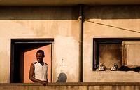 Derelict highrise appartment building, Mozambique, Beira