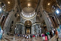 nave of St. Peter´s Basilica, Vatican City, Rome