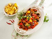 Ratatouille with rosemary potatoes