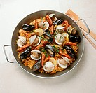 Paella in a Pot, From Above