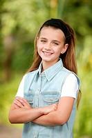 girl outdoors, portrait
