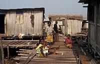 Nzulezo stilt village on Lake Amansuri, Ghana