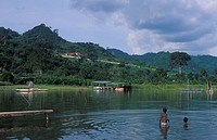 Lake Bosumtwi is a crater lake which is held sacred by the Ashanti, Ghana