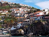 fishing village of Camara dos Lobos on Madeira, Portugal, Madeira