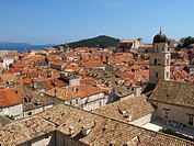 view on the historic old town of Dubrovnik, Croatia, Dubrovnik