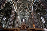 interior of St. Victor´s Cathedral , Germany, North Rhine_Westphalia, Ruhr Area, Xanten