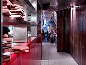 Jamie´s Italian, Bath, 2008, Stiff + Trevillion Architects, www.stiff_trevillion.com, +44 020 8960 5550, Interior view of restaurant area, kitchen and...