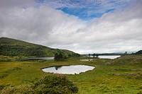Irish landscape with lake, Ireland, Kerrysdale, Gleninchaquin Park