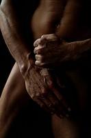 Man, body, naked, muscular, hands