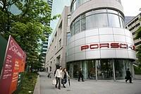 Porsche showroom, city centre, Shimbashi district, Tokyo, Japan, Asia
