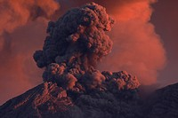 Indonesia, East Java, Semeru volcano, Ash eruption