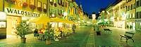 Germany, Baden_Württemberg, Waldshut, Pedestrian zone at night