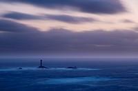 UK, England, Cornwall, Lands End, Longships Lighthouse