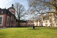 Orangery and chapel at Weilburg's renaissance castle (built 1533-1572), Weilburg an der Lahn, Hesse, Germany, Europe