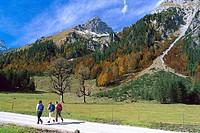 Hiking in Autumn, Eng, Karwendel Mountains Tyrol, Austria