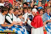 Papal visit of Benedikt XVI., Altoetting, Bavaria, Germany