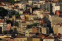 Mass of houses in Istanbul, view over the city, Istanbul, Turkey