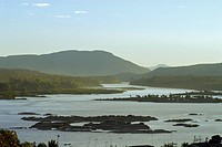 Mekong river at Khong Chiam with view towards Laos, Province Ubon Ratchathani, Thailand, Asia