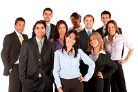 large group of self_confident businesspeople
